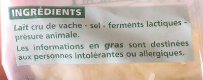 Comté râpé - Ingredienti - fr