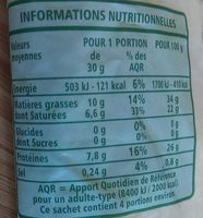 Comté râpé - Valori nutrizionali - fr