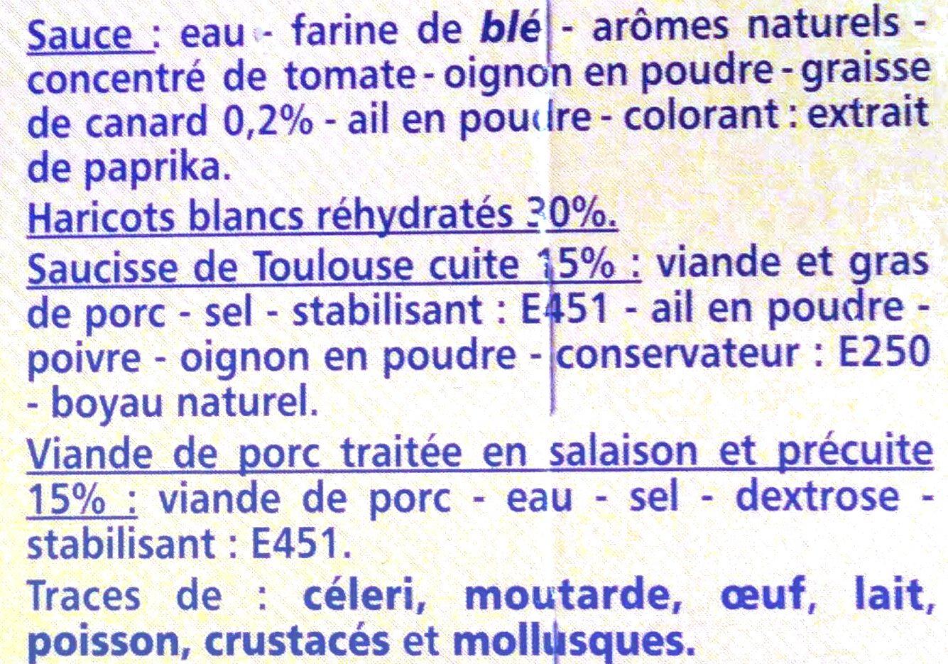 Cassoulet à la graisse de canard - Ingredients