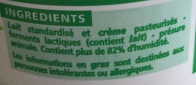 Faisselle moulée à la main 6% de matières grasses sur produit fini - Ingredients - fr
