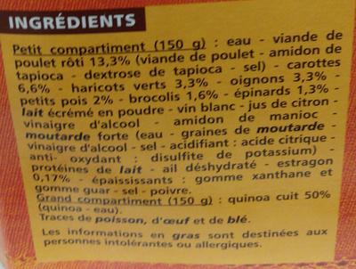 Poulet à l'Estragon aux Légumes et Quinoa - Ingrédients - fr