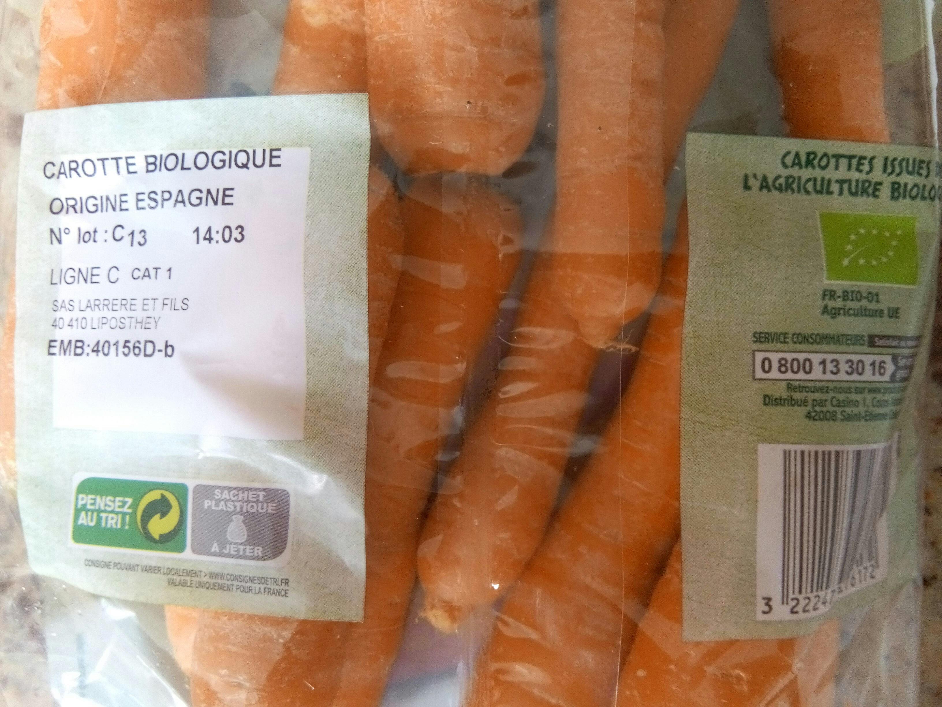 Carottes Bio - Ingrédients - fr