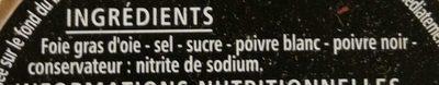 Foie gras d'Oie entier - Ingrediënten