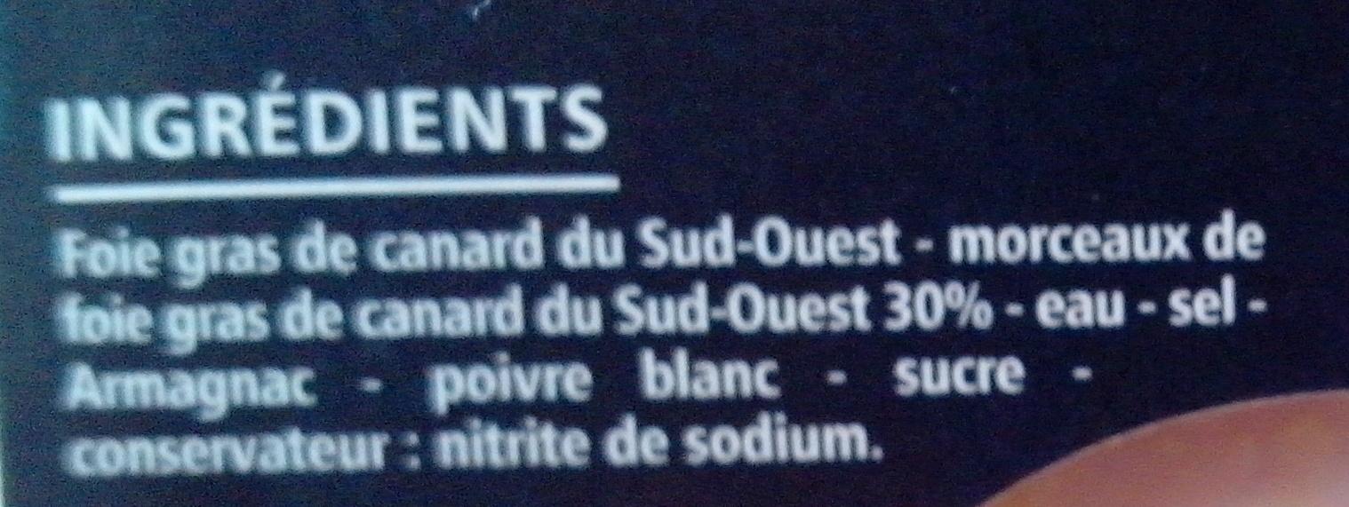 Bloc de foie gras de canard du sud ouest avec morceaux igp - Quantite foie gras par personne ...
