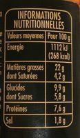 Sauce Tomates Ricotta Basilic - Voedigswaarden
