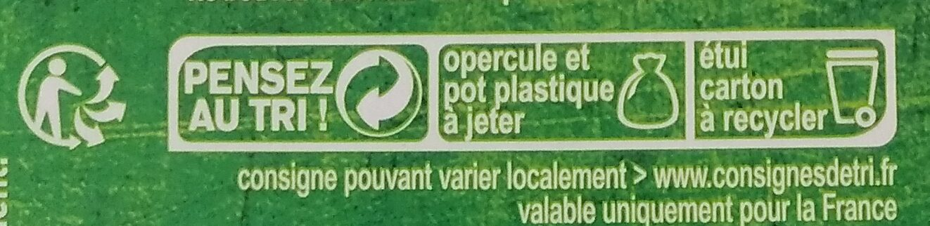 Purée pomme pêche banane - Recycling instructions and/or packaging information - fr