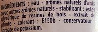 Anisé sans alcool - L'Estaque - Boisson aux extraits d'anis - Ingrediënten - fr