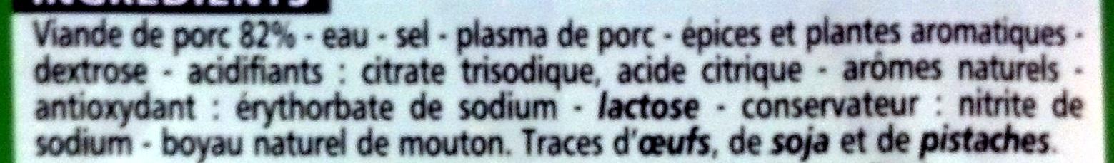 Saucisses de Francfort - Ingrediënten