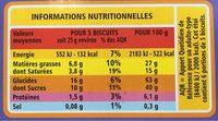 Fusetti au Chocolat Blanc - Informations nutritionnelles - fr