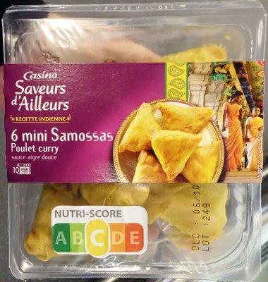 6 mini samossas poulet avec sauce aigre douce - Product - fr