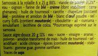 6 mini samossas poulet avec sauce aigre douce - Ingredients - fr