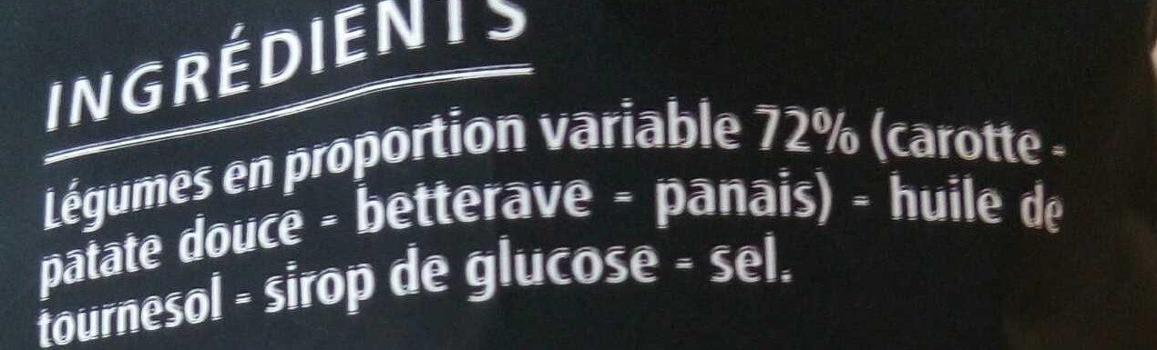 Chips aux 4 Légumes - Ingrediënten