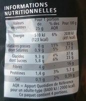 Chips aux 4 Légumes - Voedigswaarden