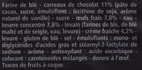 8 mini gâches aux carreaux de chocolat, au beurre et à la crème fraîche - casino delices - Ingrédients - fr