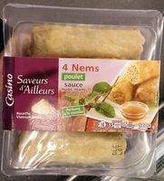 4 nems poulet sauce nuoc-mâm - Produkt - fr