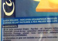 Gouda Holland IGP - Ingrediënten - fr