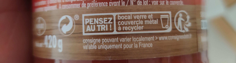 Sauce Bolognaise - Instruction de recyclage et/ou informations d'emballage - fr