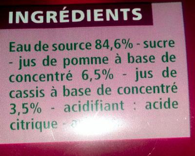 Pomme Cassis à l'eau de source - Ingrédients - fr
