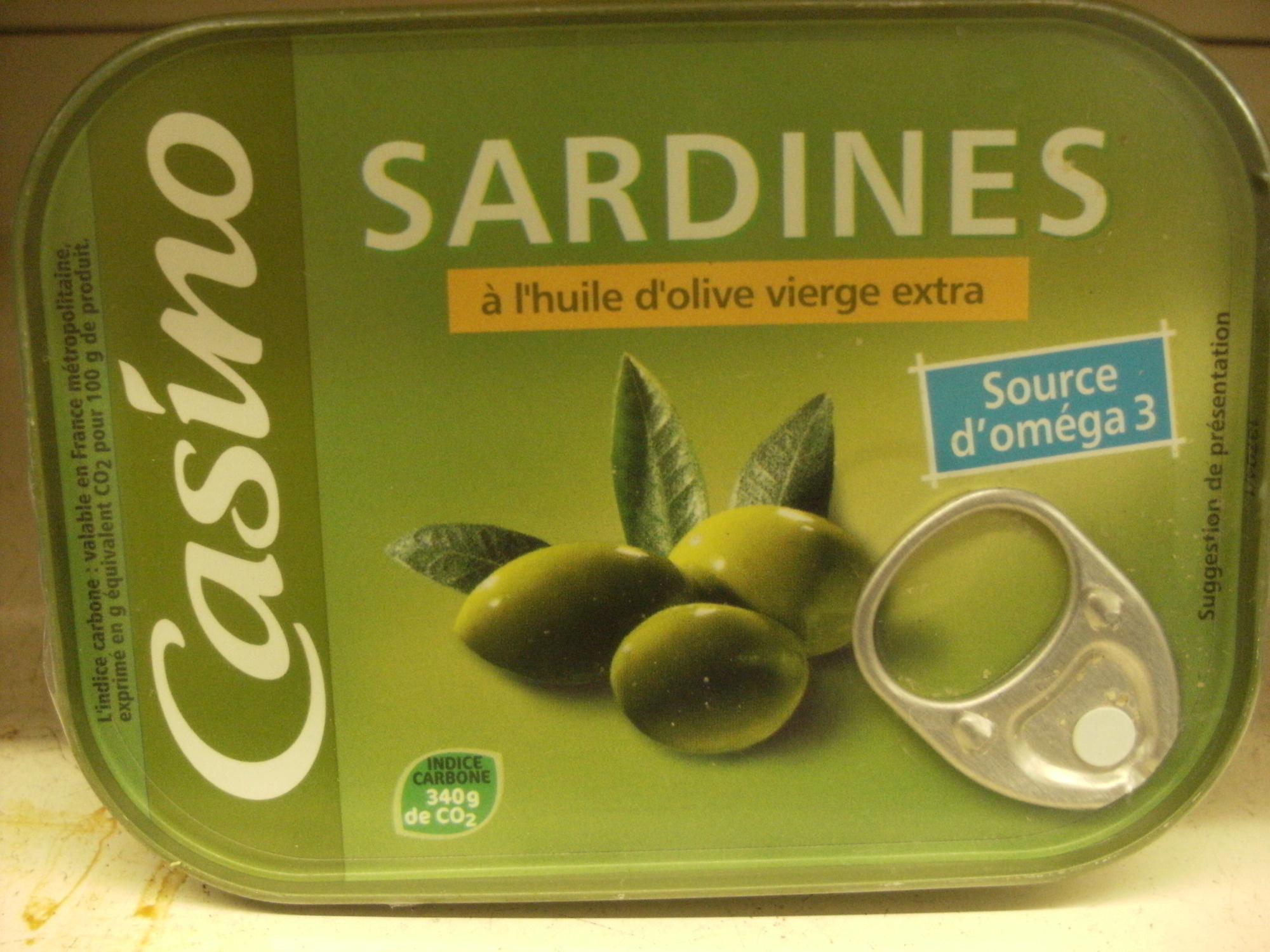 Sardines Huile d'Olive Riche en Omega 3 - Produit