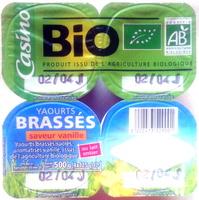 Yaourts brassés vanille BIO - Produit