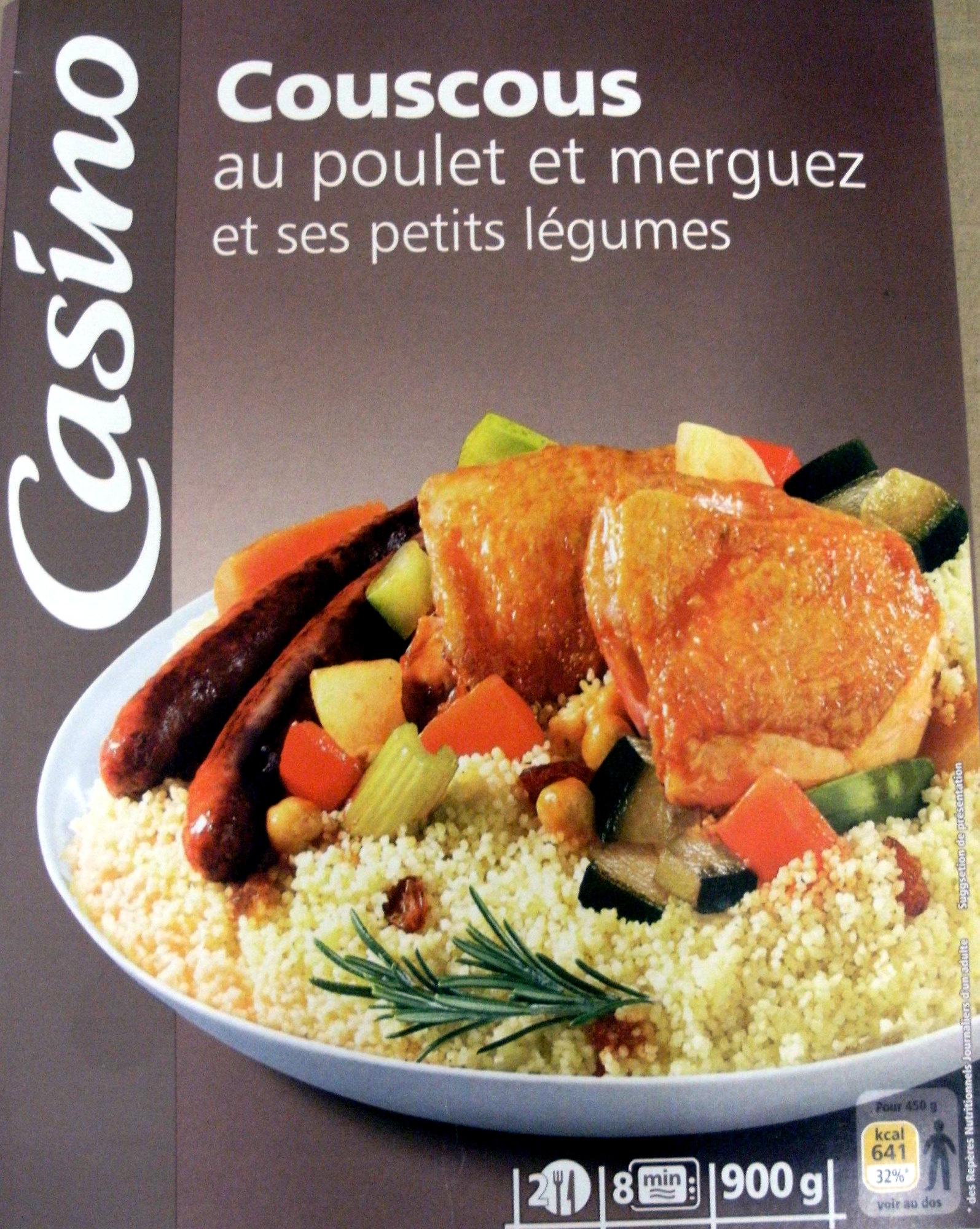 Couscous Au Poulet Et Merguez Et Ses Petits Legumes 2 Portions