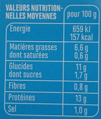 Casino filet de merlu blanc meunière - Nutrition facts