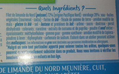 Filets de Limande du Nord Meunière - Ingredients