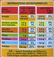Boisson au soja à la vanille Bio Casino - Informations nutritionnelles