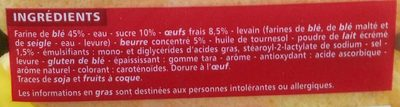 15 Pains au lait - Ingredients - fr