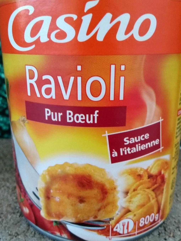 Ravioli pur bœuf sauce à l'italienne - Product