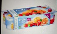 Fruits 0% de mat. gr. 0% de sucres ajoutés** - Produit - fr