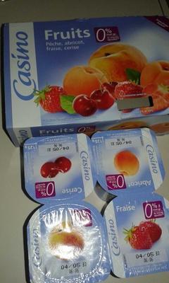 Fruits 0% de mat. gr. 0% de sucres ajoutés** - Product