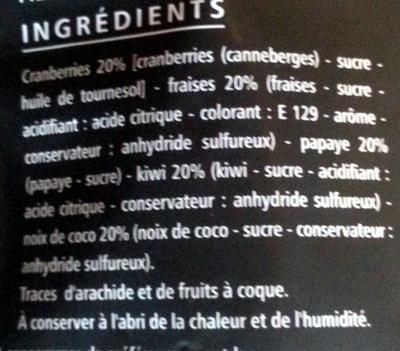 Cocktail fruits rouges, fruits exotiques - Ingrediënten
