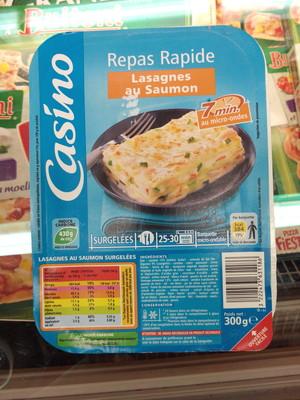 Lasagnes aux 2 saumons et aux petits légumes - 1