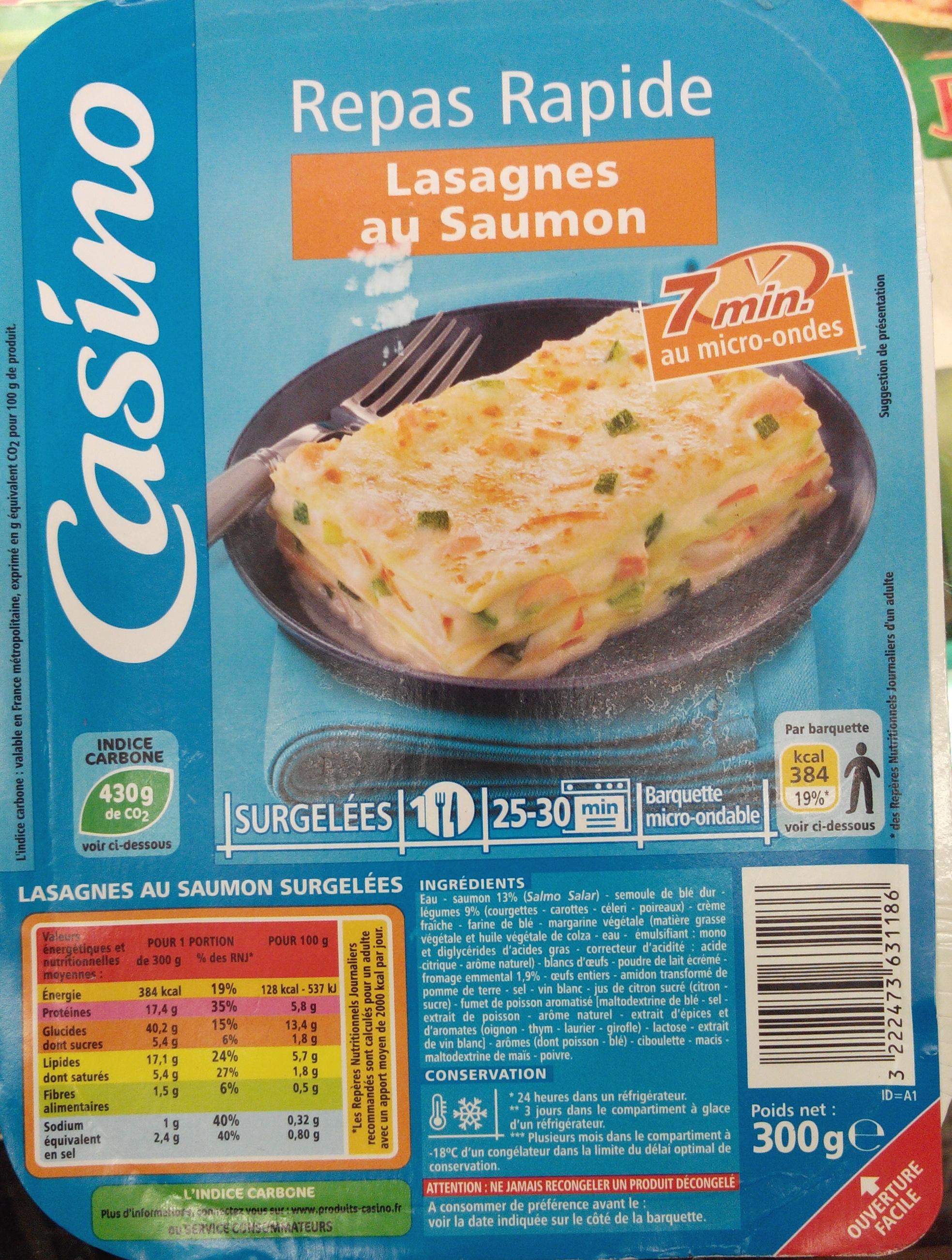 Lasagnes aux 2 saumons et aux petits légumes - Produit