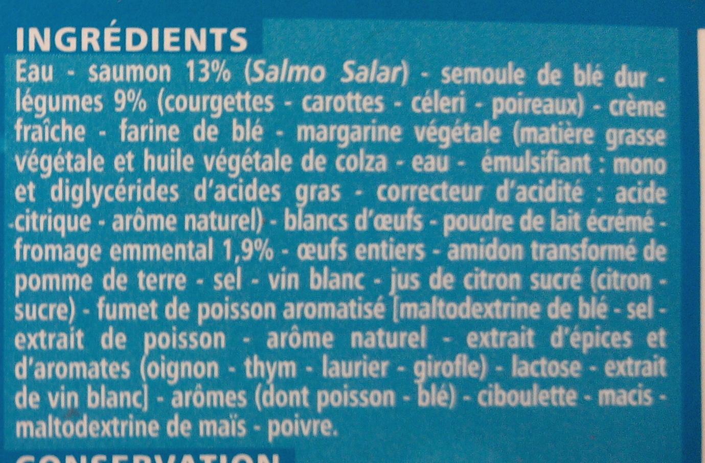 Lasagnes aux 2 saumons et aux petits légumes - Ingrédients