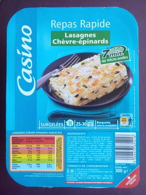 Lasagnes au chèvre et aux épinards - 1