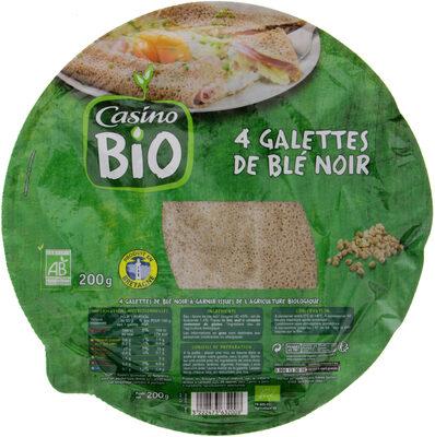 4 galettes de blé noir BIO - Produit - fr