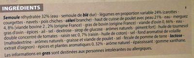 Couscous au poulet et merguez - Ingrédients - fr