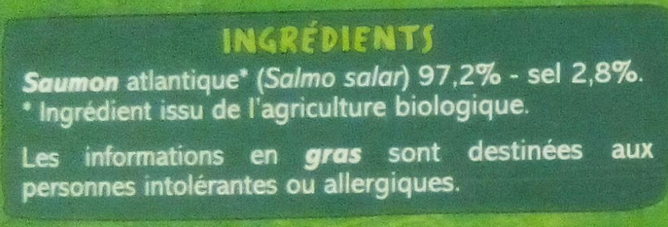Saumon fumé - Ingrediënten - fr