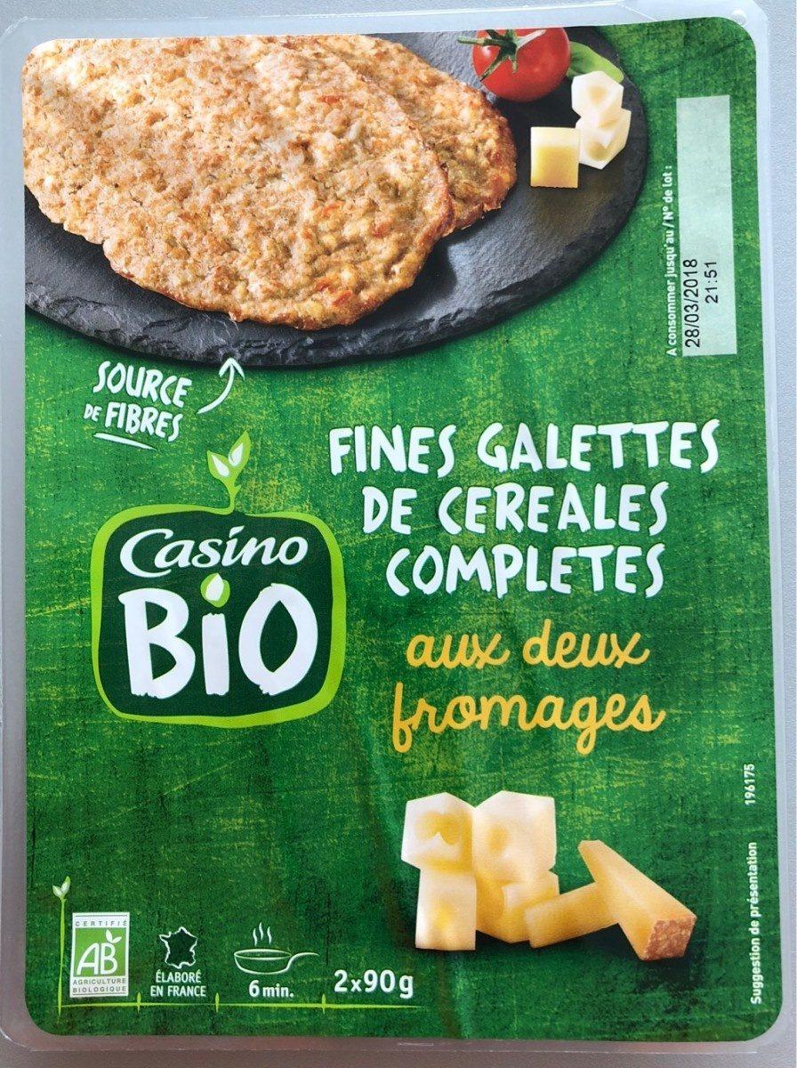 Fines galettes de céréales complétes aux deux fromages CASINO BIO - Product - fr