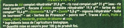 Fines galettes de céréales complétes aux deux fromages CASINO BIO - Ingredients - fr