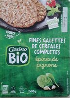 2 Fines galettes de céréales complètes Epinards Pignons BIO - Product