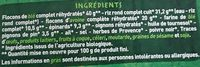 2 Fines galettes de céréales complètes Epinards Pignons BIO - Ingrediënten