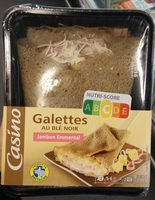 Galettes au blé noir Jambon-Emmental - Produit - fr