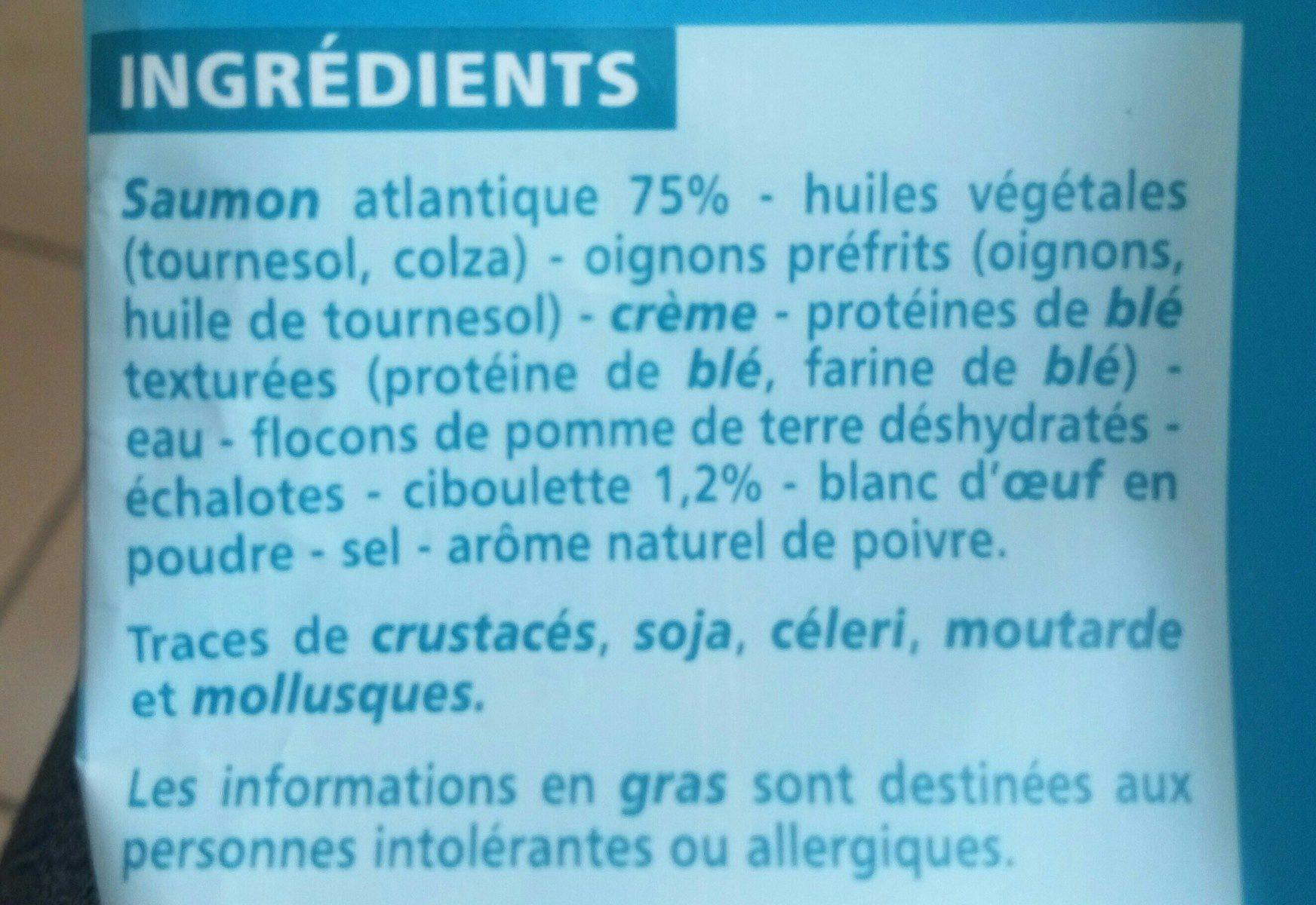 Haché au saumon à la ciboulette - Ingrediënten - fr