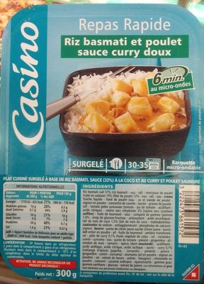 Poulet riz basmati sauce lait de coco et curry - Product