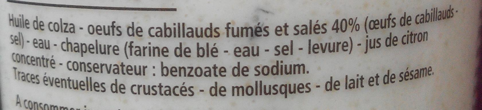 Tarama premium - Sans colorant - Ingrediënten