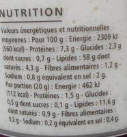 Tarama premium - Sans colorant - Voedigswaarden