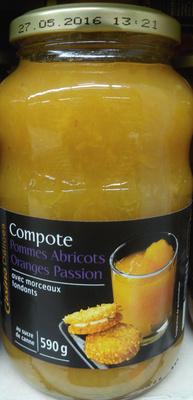 Compote Pommes Abricots Oranges Passion avec morceaux fondants - Product - fr